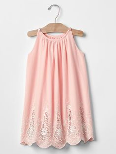 7080701ab Eyelet tank dress Product Image Toddler Dress, Toddler Clothes Diy, Toddler  Girl, Baby