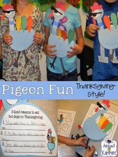Around the Kampfire: Pigeon Fun Thanksgiving-Style!