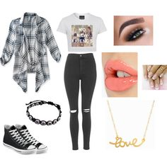 A fashion look from August 2015 by katy-nes-cata featuring Aéropostale, Topshop, Converse, Minnie Grace and Charlotte Tilbury