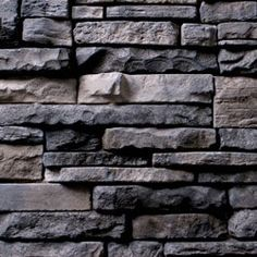 Manufactured Stone Veneer - Ready Stack Stone Panels Collection - Walnut / Ready Stack / 120 Sq Ft Crate:::::Maybe like it? Patio Design, Wall Design, Stacked Stone Panels, Manufactured Stone Veneer, Outside Paint, Masonry Work, Roof Cleaning, House Siding, Exterior Paint