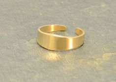 14k Solid Yellow Gold Toe Ring Handcrafted with by NiciLaskin