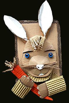 Recycling bunny craft