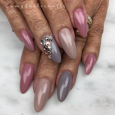 """356 Likes, 6 Comments - A M Y D U C L O S (@amyduclosnails) on Instagram: """"You are never too old to have beautiful nailsUsing Ugly Ducklings #24, 25 & 26 gel polishes…"""""""