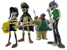 Kidrobot Gorillaz vinyl toys...