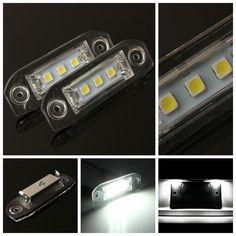 2x 3LED White Number License Plate Light Lamp For Volvo S80 S60 C70 V70 E-marked - $19.99