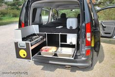Are you looking to take a camping trip in the near future? Whether you are looking to take a camping trip as a family vacation or a romantic getaway, you may be concerned with . Auto Camping, Camping Box, Minivan Camping, Truck Camping, Camping Hacks, Mini Caravan, Mini Camper, Camper Life, Vw Camper