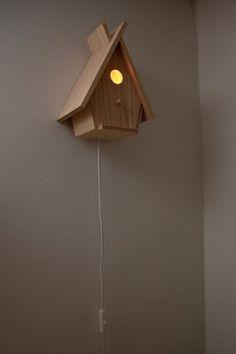 Vogelhuisje als lamp