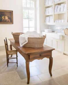 Good grief, how chic can a laundry room get? Habitually Chic® » Chic in Avignon: Le Mas des Poiriers