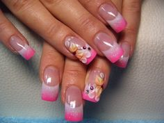 Shimmering Pink & White Tips
