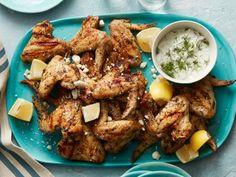 Get Food Network Kitchen's Greek Souvlaki Chicken Wings Recipe from Food Network