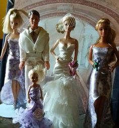 Barbie Collector Tim Gunn Collection Blonde Doll 1, Bridal wedding party Lot! | eBay