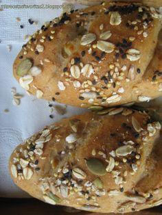 Mis recetas favoritas: Pan integral con semillas.... y queso!