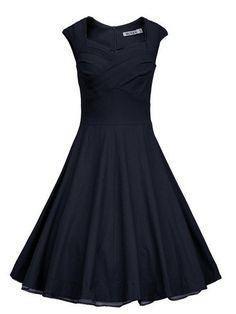 Navy Blue Vintage Dress