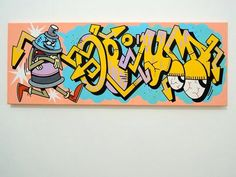 For sale : 30x80 cm , cans and markers ok canvas !