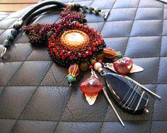 Red Hyacinth Sunshine Beauty - Necklace