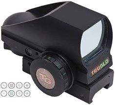 Truglo TruBrite Red Dot DualColor Multi Reticle Black * Find out more about the great product at the image link. (This is an affiliate link) #AirsoftsightsOptics