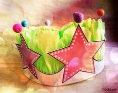 DIY : Crown / Couronne des reines et rois, princesses etc. Fun Crafts For Kids, Craft Activities For Kids, Crafts To Sell, Art For Kids, Make A Crown, Diy Crown, Felt Crown, Crown Template, Paper Crowns