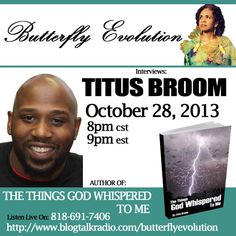 Author Titus Broom on The Butterfly Evolution