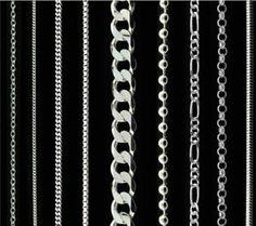 39bebffbff09 reino unido 14 a 38 pulgadas de plata cadena collar hombre dama frenar ola  bola de la cuerda caja del grano
