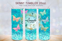 Free Silhouette Designs, Blue Birthday, Magical Unicorn, Blue Glitter, Watercolor Flowers, Tumblers, Mint, Butterfly, Etsy Shop