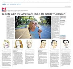 Folio: U.S. election 2012. Illustrations by Tonia Cowan / The Globe and Mail. Wednesday, July 4, 2012.