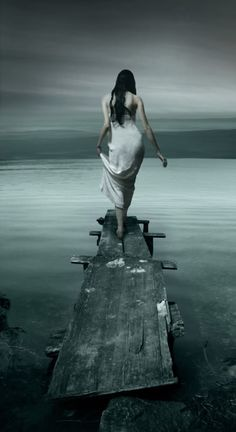She surprised herself by not even feeling scared as she walked to the end of the plank. She felt freed....freed from the lies, the trechery, the chains that had held her captive all her life.