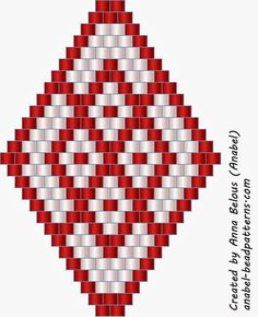 5 схем сережек - славянская этника - мозаичное плетение