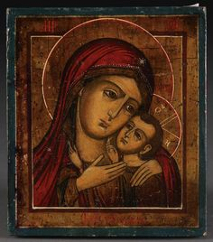 422: A RUSSIAN ICON KORSUNSKAYA MOTHER OF GOD, 19TH C. : Lot 422