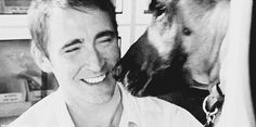 Lee Pace | Marmaduke (gif) I challenge you to watch this gif without smiling. --- ooooohhh Puppy kisses.....aaww