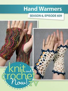 Drew is back to try his 'hand' at knitting with the Scalloped Fingerless Gloves and Robyn shows us her crochet Doily Wristlets. Lena demonstrates a knit Star Stitch Cowl. Crochet Doilies, Crochet Hats, Knit And Crochet Now, Knitting Patterns, Sewing Patterns, Star Stitch, Bead Kits, Hand Warmers, Fingerless Gloves