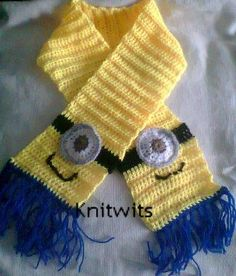 Kids scarfs on Pinterest Scarf Patterns, Scarfs and Minions