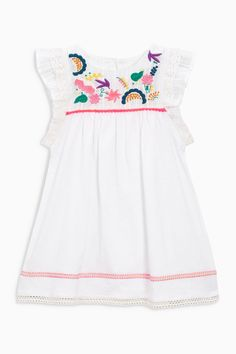White Embroidered Dress (3mths-6yrs) | Next USA