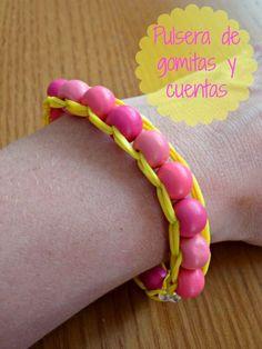 Sueños de Craft: ♥ DIY Pulsera de gomitas y cuentas