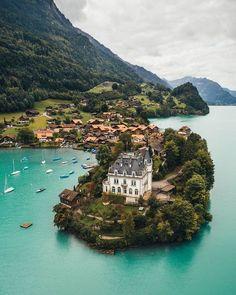 At the Schloss Seeburg in Iseltwald, Switzerland.