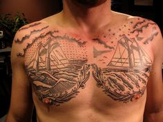 Awesome Chest Tattoo Design Ideas for Men - http://trendingideas.com/awesome-chest-tattoo-design-ideas-for-men/ - #Chest-Tattoo-Design-Ideas-For-Men