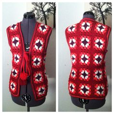 Vintage 60s crochet vest / granny square / by CrystalsCloset74, $18.00