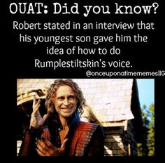 OUAT Did you know: Rumplestiltskin's voice