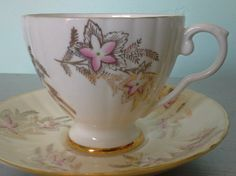 Royal Grafton Bone China Pink and Gold Flowers Made by SparkleSet
