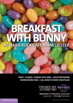 Book now for Breakfast with Bunny - it's reservations only so call 0161 831 6700 to book your #Easter #Family #Treat #ThisIsHardRock