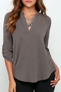 Pretty taupe blouse