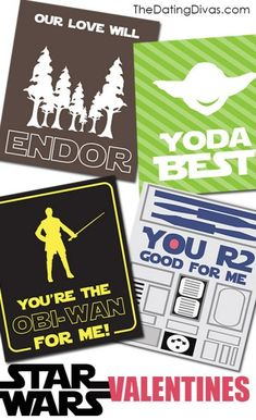 Free Printable STAR WARS Valentines- perfect for the hubby!