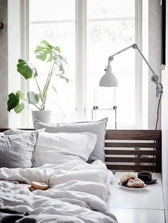 neutral, light-filled bedroom