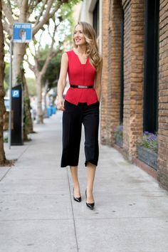 Culottes are a perfect mix of dressy and casual for the office