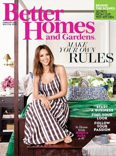 Learn more about how Jessica balances her family and career and see more of her stunning home in the February 2016 issue of Better Homes and Gardens.