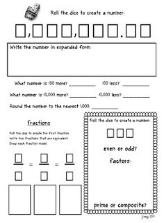 Here's a terrific form for working on number of the day or week.
