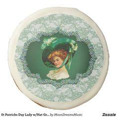 #StPatricksDayLady w/Hat #GreenFrame & #Lace #SugarCookies by #MoonDreamsMusic