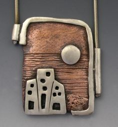 """Hadar Jacobson, """"View"""", Copper and PMC silver"""