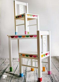 Gomettes/stickers de couleurs qui viennent égayer meubles ikéa tt simple