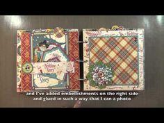 ▶ Petit album avec la collection Mother Goose de Graphic 45's Mini Album - Part 2 - YouTube