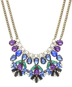 Look at this #zulilyfind! Burnished Gold & Cobalt Crystal Bib Necklace by Olivia Welles Jewelry #zulilyfinds